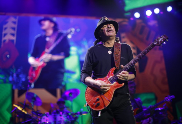 Carlos Santana last played Xcel Energy Center in 2014 on tour with Rod Stewart. / Jeff Wheeler, Star Tribune