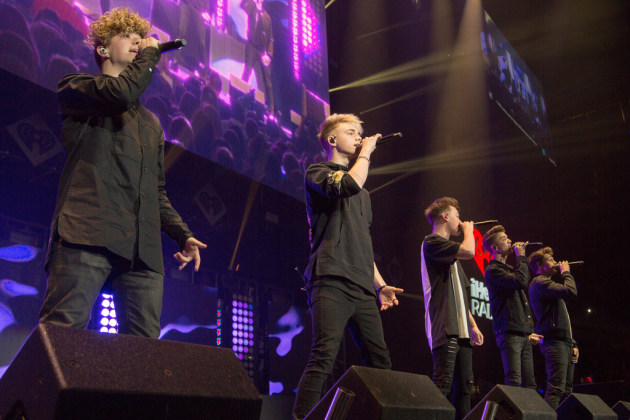 Boy band Why Don't We also briefly performed at the KDWB Jingle Ball in 2017. / Matt Blewett, Star Tribune file