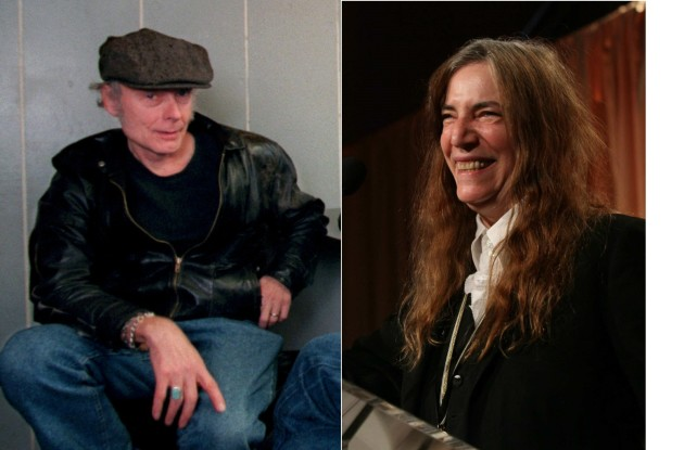 Tony Glover and Patti Smith were friends since her first Twin Cities gig in the early-'70s. / Star Tribune file photos