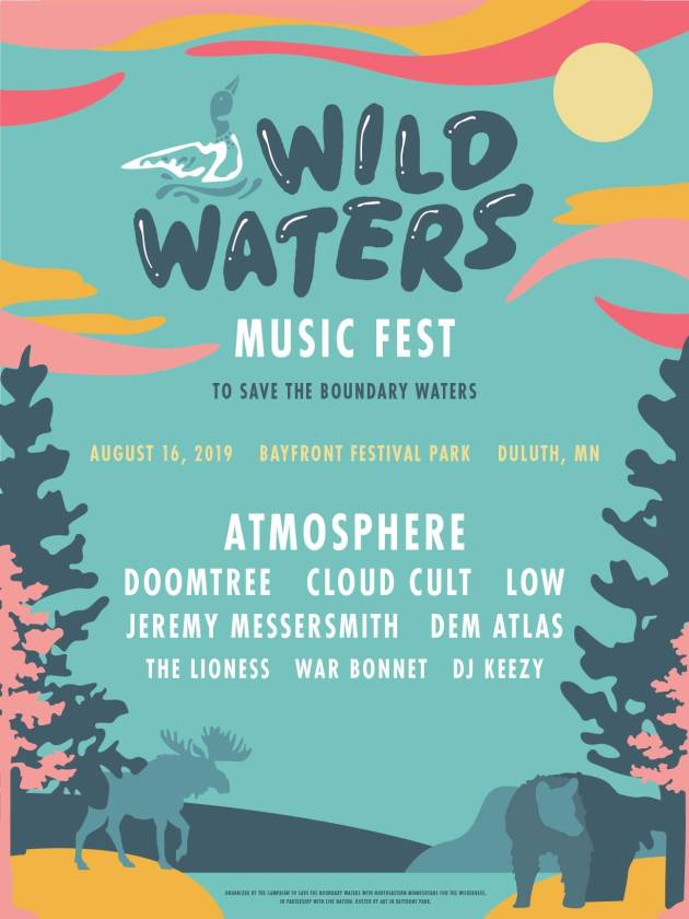 Poster for the Wild Waters Music Fest.