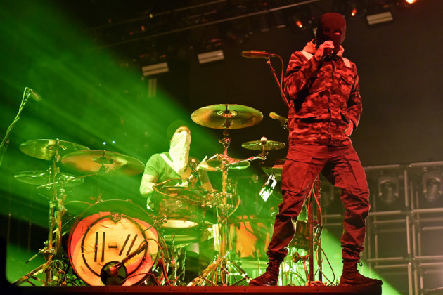 Twenty One Pilots drummer Josh Dun and singer Tyler Joseph have already played two packed arena shows in the Twin Cities. Rob Grabowski, Invision/AP