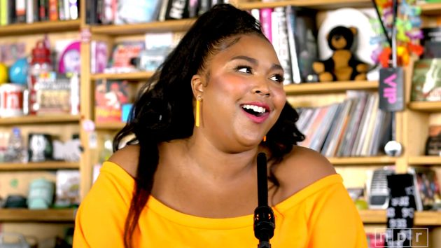 "Lizzo on the set of NPR's ""Tiny Desk Concert"" series. / Courtesy NPR Music"