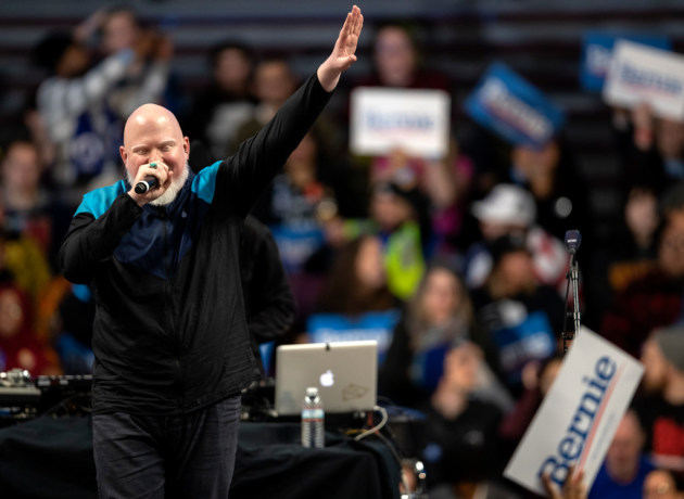 Brother Ali performed at the rally for Sen. Bernie Sanders and Rep. Ilhan Omar at Williams Arena in Minneapolis on Sunday. / Carlos Gonzalez, Star Tribune