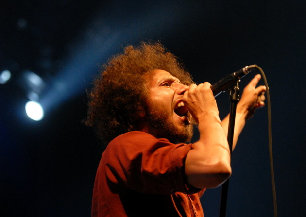 Zack de La Rocha during Rage Against the Machine's incendiary Target Center concert in 2008. / Star Tribune file