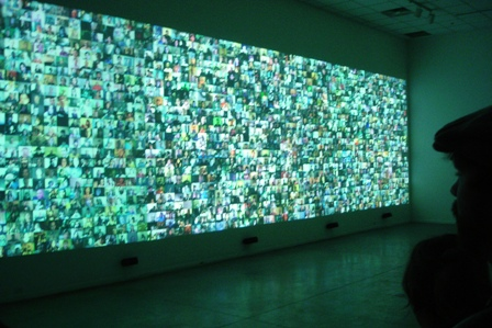 christopher bakeru0027s giant video wall takes over at franklin art