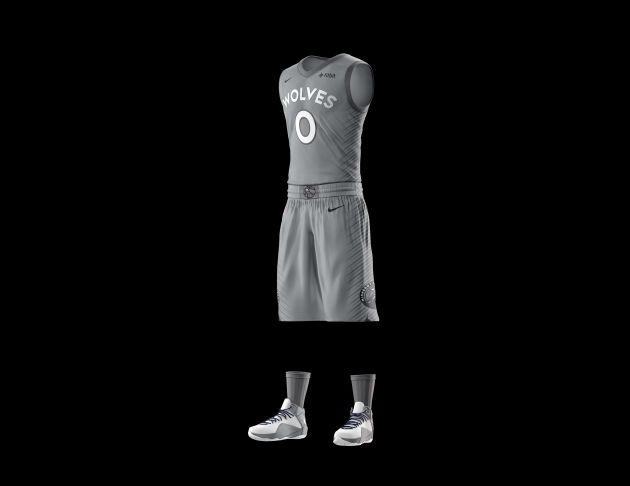 Timberwolves unveil gray  City Edition  uniform - StarTribune.com d108e28cc