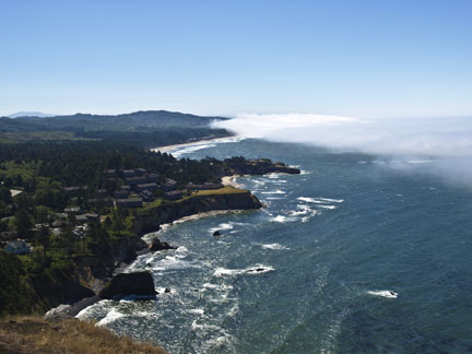 The view of the Oregon coastline