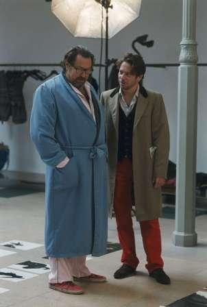 """Julian Schnabel (right) directs Mathieu Amalric in """"The Diving Bell and the Butterfly."""" Photo: Walker Art Center."""