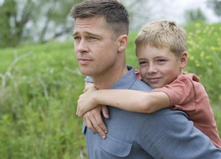 "Brad Pitt and Dustin Allen in ""The Tree of Life."" Photo: Fox Searchlight."
