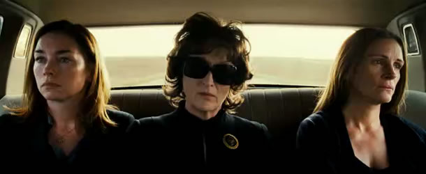 Julianne Nicholson, Meryl Streep and Julia Roberts in August: Osage County Photo: The Weinstein Co.