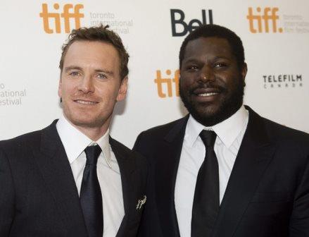Actor Michael Fassbender, left, and director Steve McQueen at the Toronto International Film Festival. Photo: Nathan Denette, Associated Press