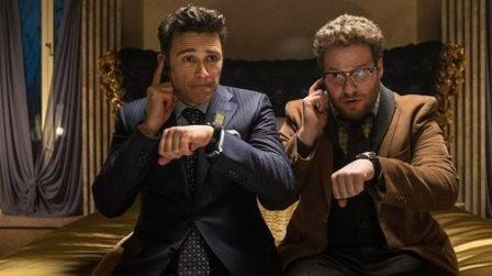 James Franco and Seth Rogen in 'The Interview.' Sony Pictures Wednesday announced the film wil not be released. Ed Araquel/AP