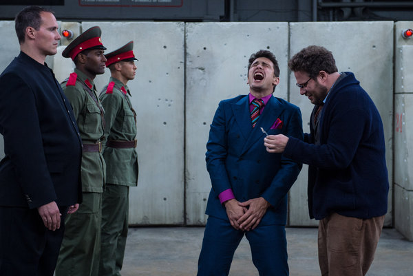 "James Franco and Seth Rogen in a scene from ""The Interview."""