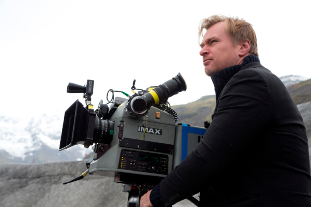 "Director Christopher Nolan on set for ""Interstellar,"" 2014. Photo courtesy Photofest © Paramount Pictures."