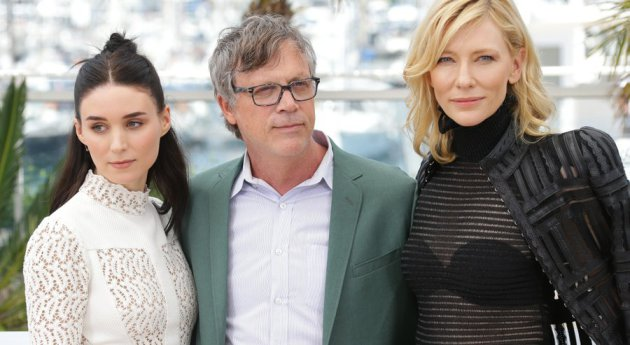 """Rooney Mara, director Todd Haynes and Cate Blanchett at the opening of """"Carol"""" at this spring's Cannes Film Festival. Photo: Associated Press"""