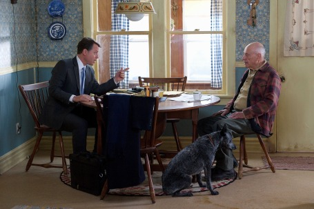"Greg Kinnear and Alan Arkin in ""The Convincer."" Photo: Sundance Institute."