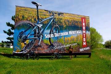 A billboard advertising the Cuyuna trail system (Photo courtesy Hansi Johnson)
