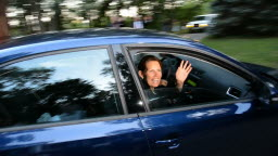 Bachmann waves goodbye to reporters in Rochester