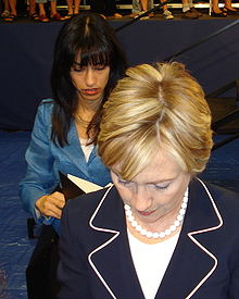 Abedin and Clinton in 2008