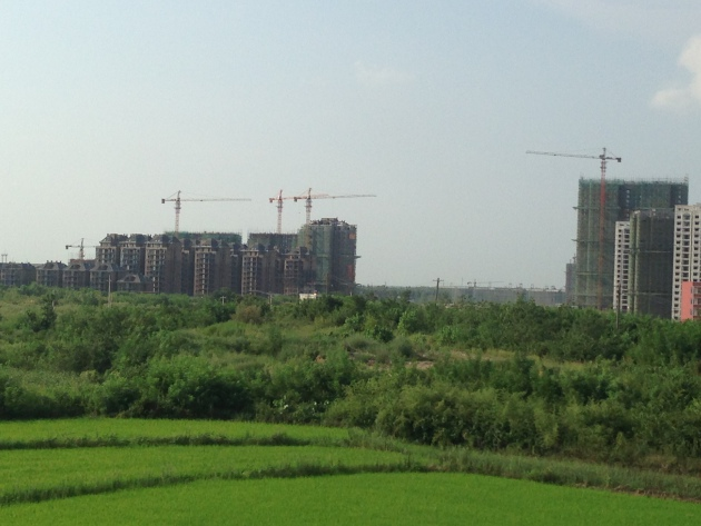 On the outskirts of Wuhan