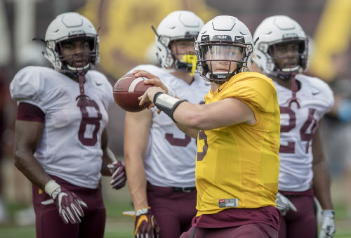 The Gophers On Tuesday Afternoon Released Their Depth Chart For S Season Opener Against New Mexico State And As Expected Youth Will Be Served