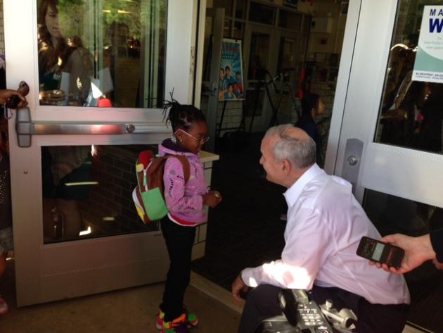 dayton greets students at garden city elementary talks all day k - Garden City Elementary School