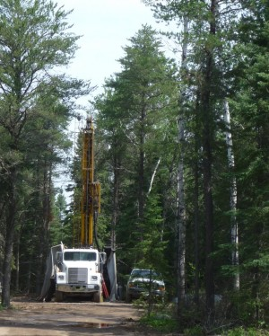 A drill site near the BWCAW