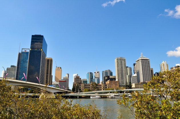 View of downtown Brisbane from South Bank