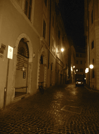 In Rome, even just random back alleys are beautiful. Plus, they're way safer than Chicago's alleyways!