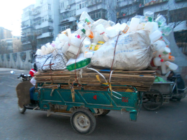 A typical Beijing garbage truck.