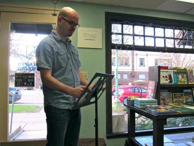 Matt Burgess reads from his work-in-progress.