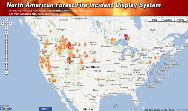 Current U S Fires This Graphic Is A Real Time Interactive Map Courtesy Of Globalincidentmap Com And Inciweb Org