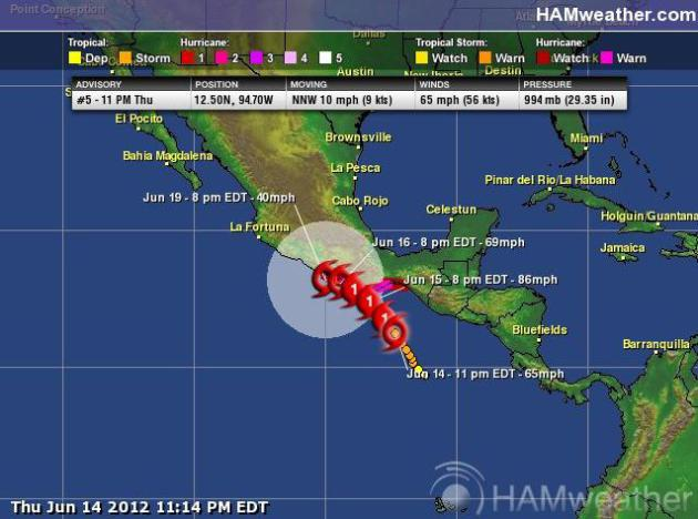 Tropical Storm Carlotta Aims At Mexico Pacific Coast Details From Reuters Tropical Storm Carlotta Strengthened Off Mexico S Pacific Coast On Thursday And
