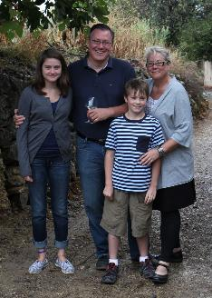 The Hoffman family in Autignac, France: Eva, Steve, Joseph and Mary Jo