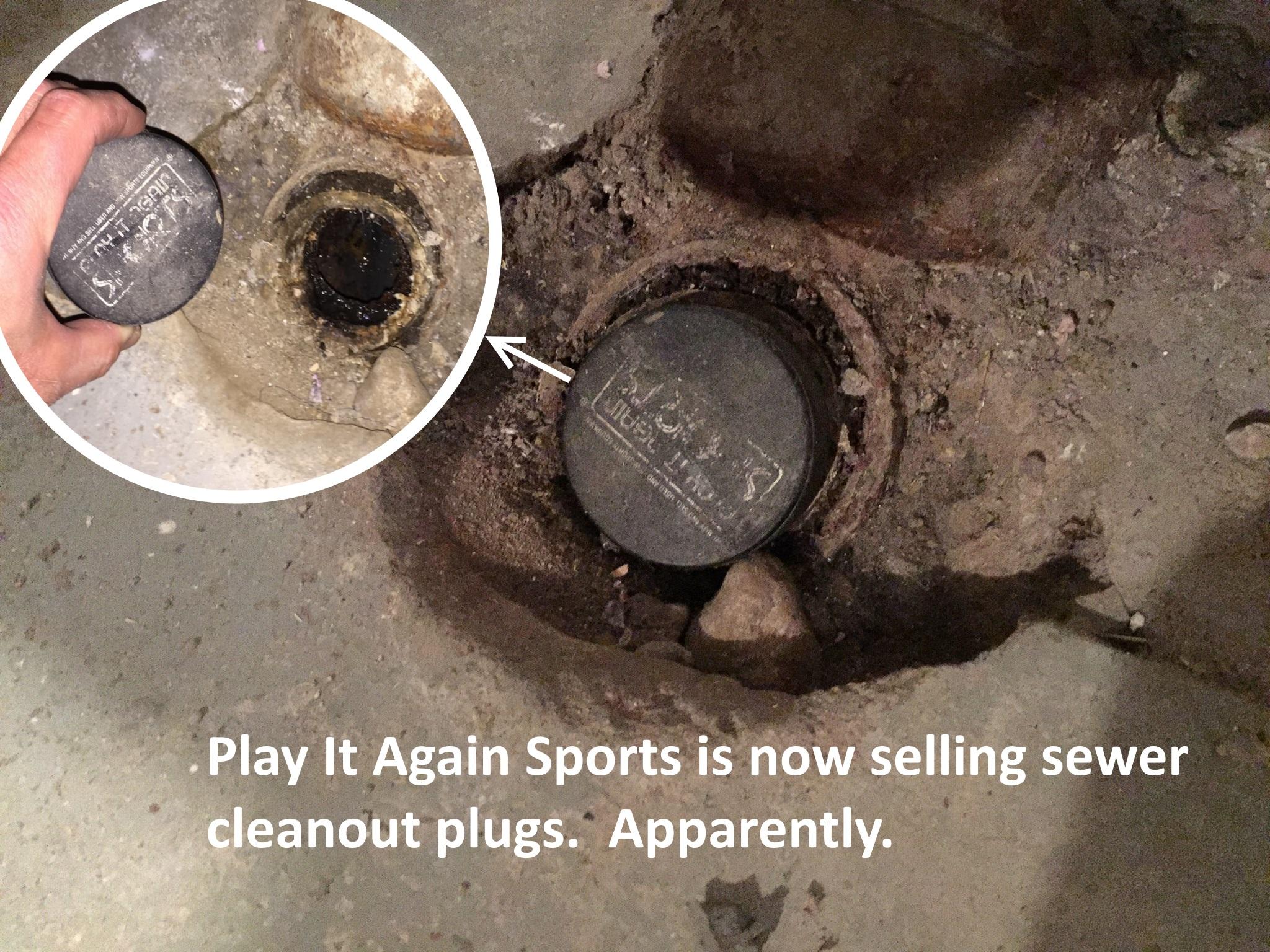 hockey puck drain stopper