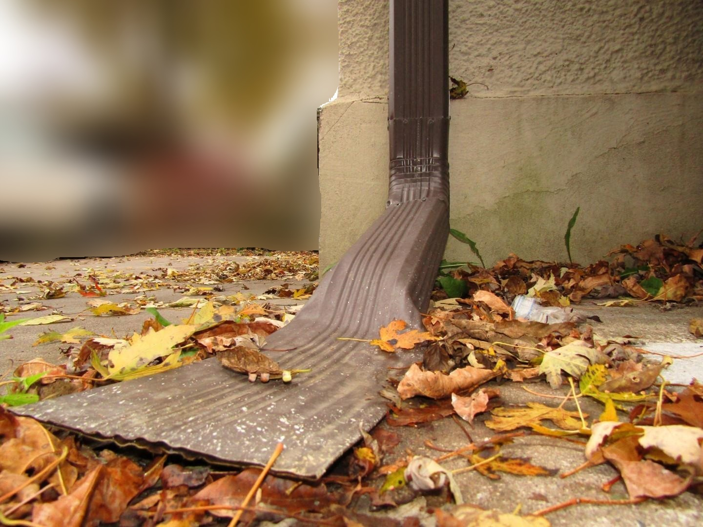 smashed downspout