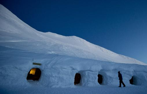 Igloos In The Arctic of the recent arctic front
