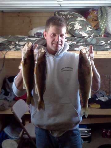 Isaacson and 3 Keeper Walleyes