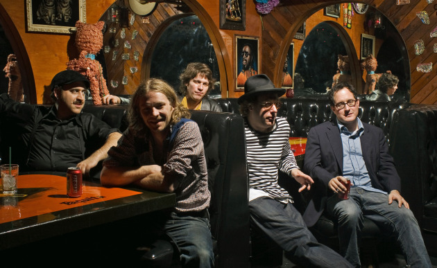 Bobby Drake, second to left, with the Hold Steady