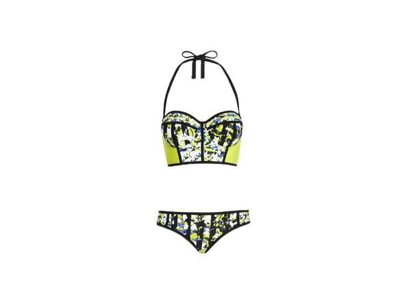 Bikini Top in Green Floral Print, $22.99; Bikini Bottom, $16.99
