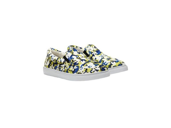 Slip-On Shoe in Green Floral Print, $29.99