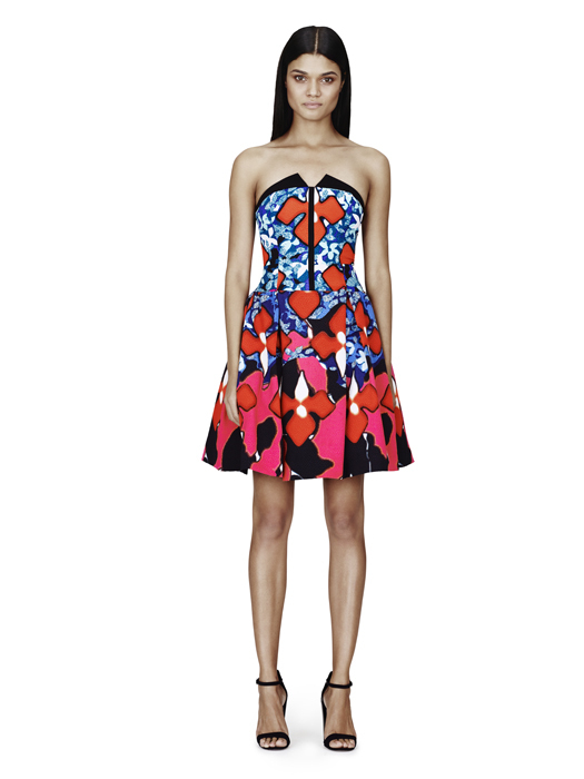Jacquard Dress in Red Iris Print, $79.99