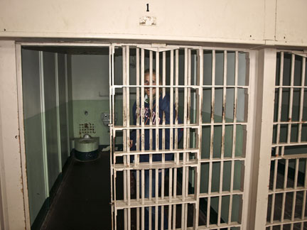 A typical Alcatraz Jail Cell - only 5 feet by 9 feet