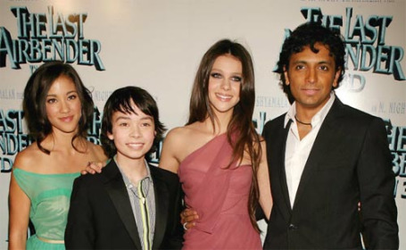 """Cast & Director of the first and last """"Last Airbender"""" movie, last night"""