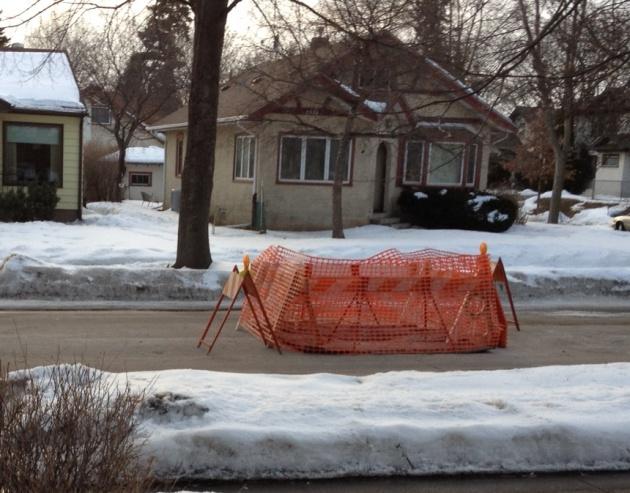 Sink hole on Lincoln St. NE.