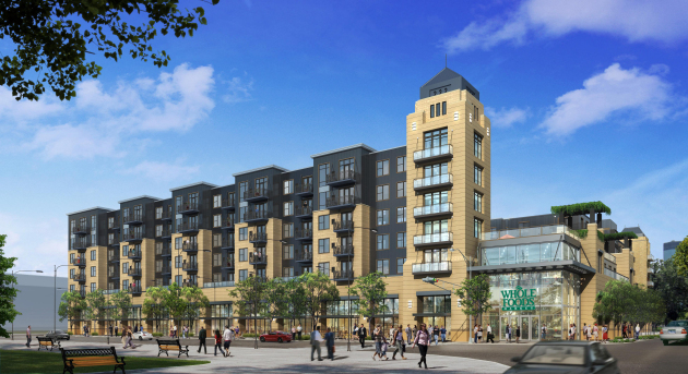 Exterior rendering of 222 Hennepin