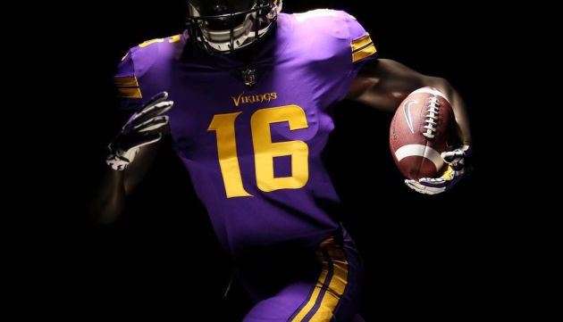 new products eced2 5c6af Purple on purple: Vikings, Nike unveil Color Rush uniforms ...