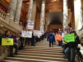 HHS protests at the Capitol