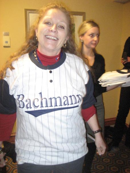 Paula Tyler of Tennessee spots her Bachmann shirt.