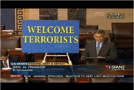 Al Franken Welcome Terrrorists